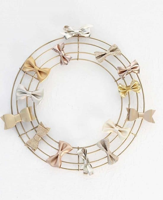 Wire Wreath Bow Holder