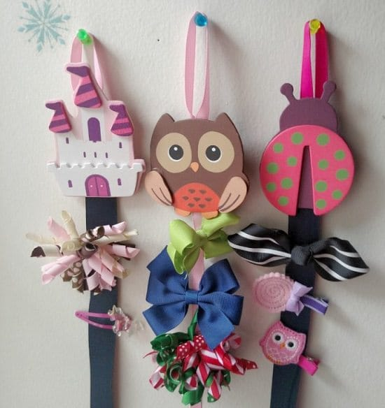 DIY Hair Bow Holder Ideas12