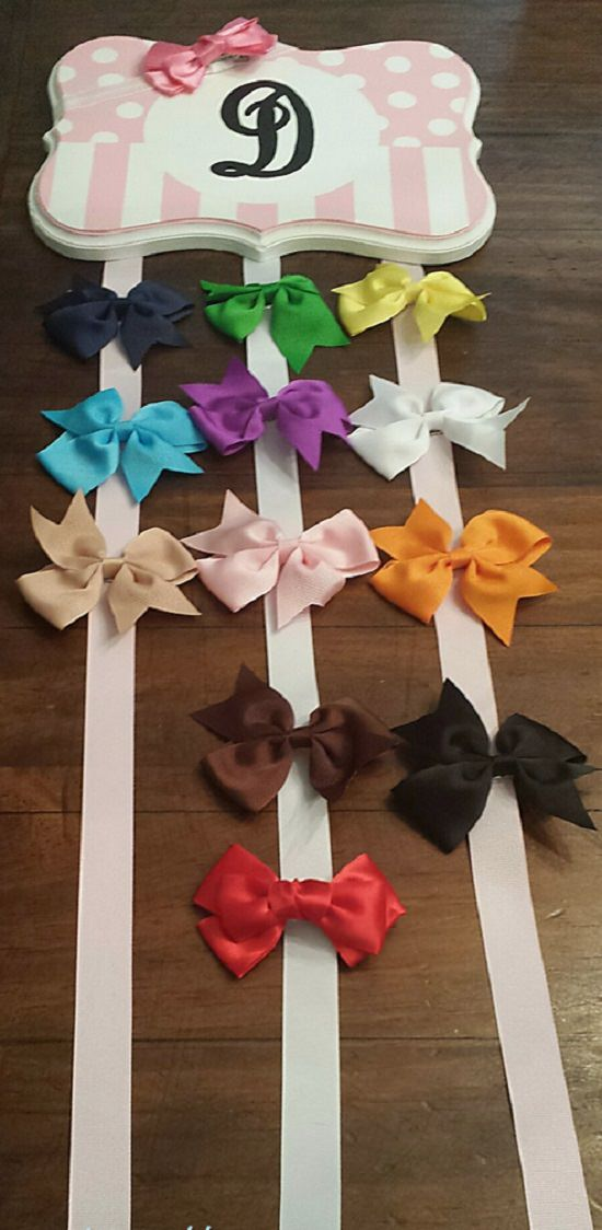 DIY Hair Bow Holder Ideas13
