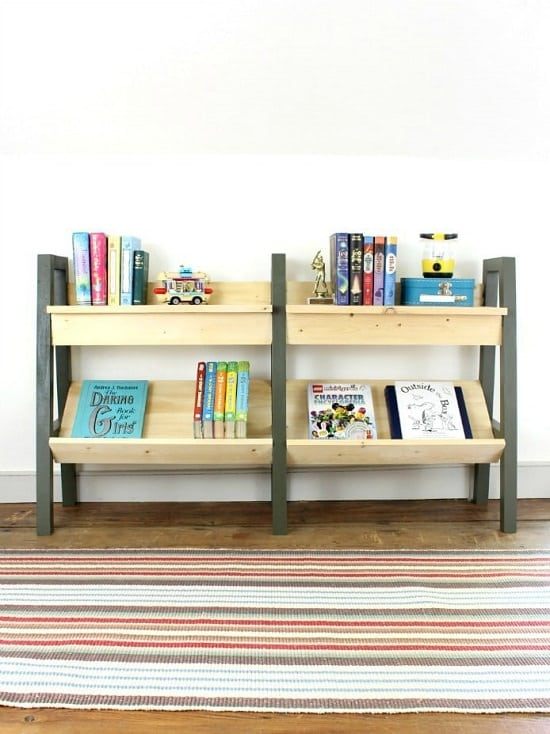 Modern kids shelf