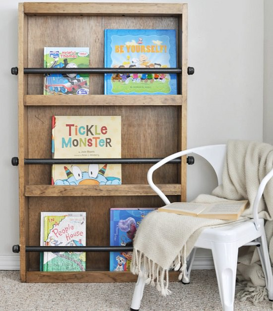 DIY Kids' Bookshelf Ideas10