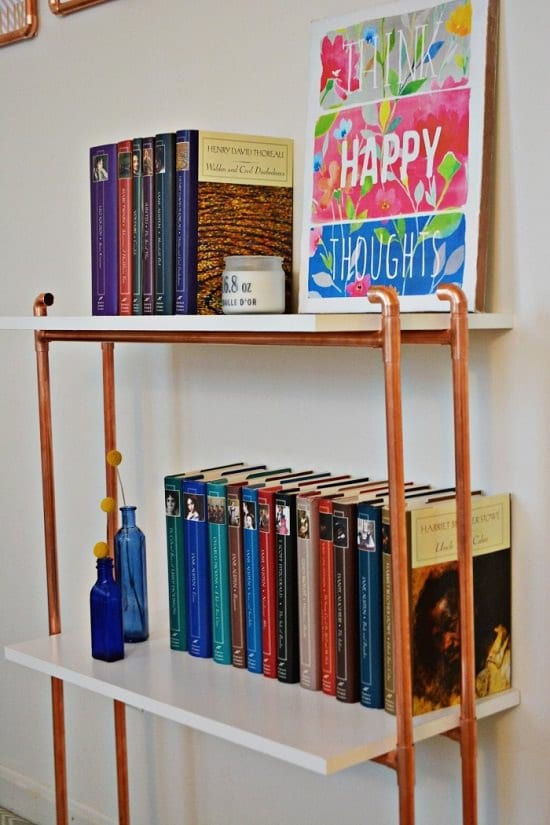 Copper Pipe Shelves