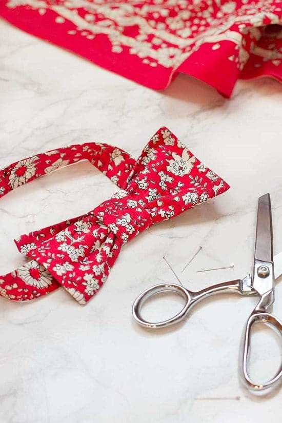 Red Printed Dog Bow Tie