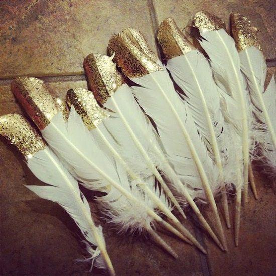 DIY Glitter Feathers1
