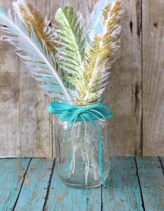 DIY Glitter Feathers5