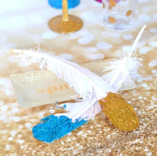 DIY Glitter Feathers2