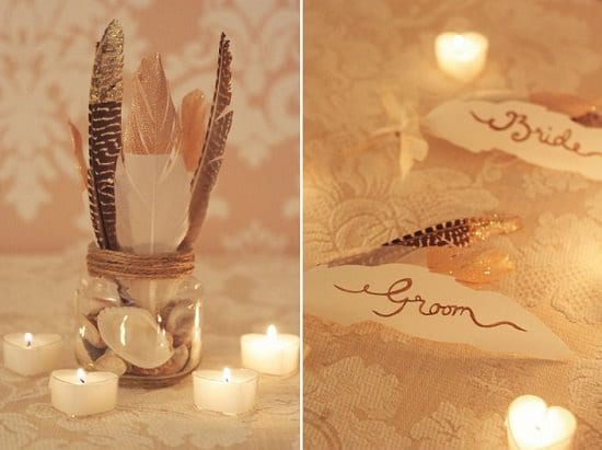 DIY Wedding Party Feathers