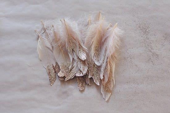 DIY Glitter Feathers4