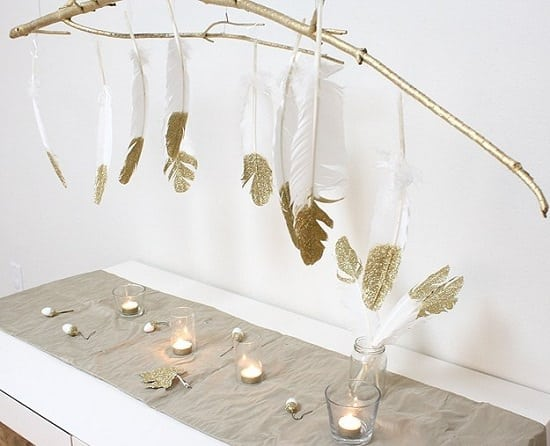 Feather Branch Chandelier