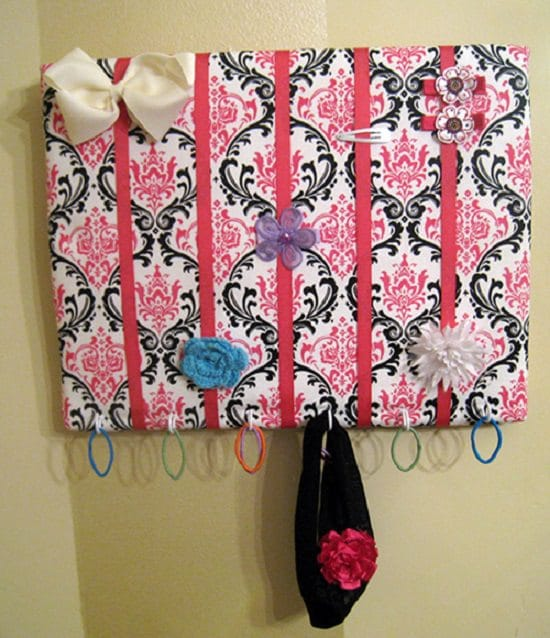 DIY Hair Bow Holder Ideas6