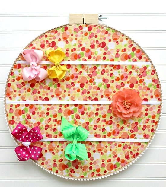 Embroidery Hoop Holder For Hair Bow