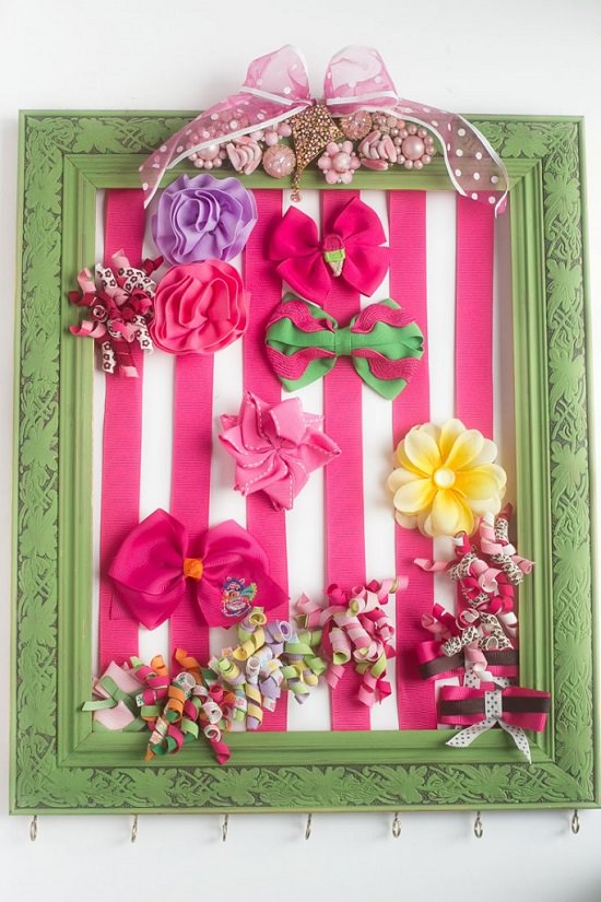 DIY Hair Bow Holder Ideas2