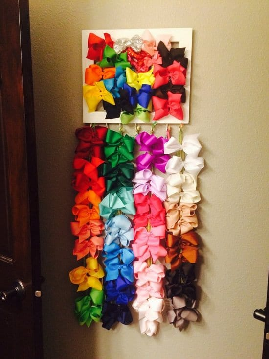 DIY Hair Bow Holder Ideas4