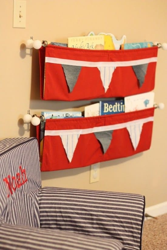 No-sew hanging shelf