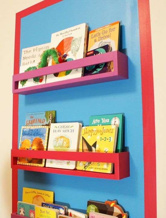 DIY Kids' Bookshelf Ideas2