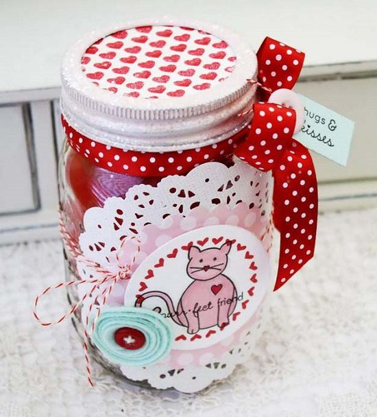 Cute Valentine Love Jars