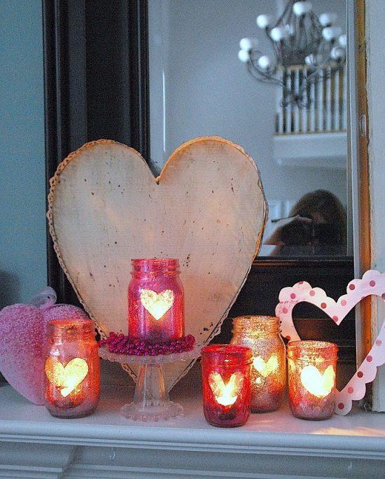 Love Mason Jar Votives