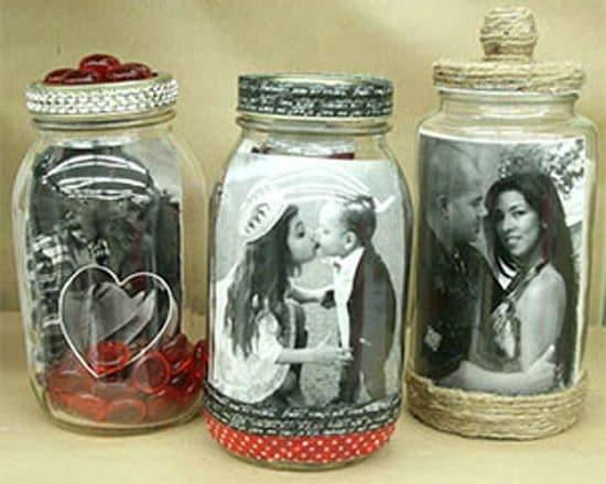 Photo In A Mason Jar