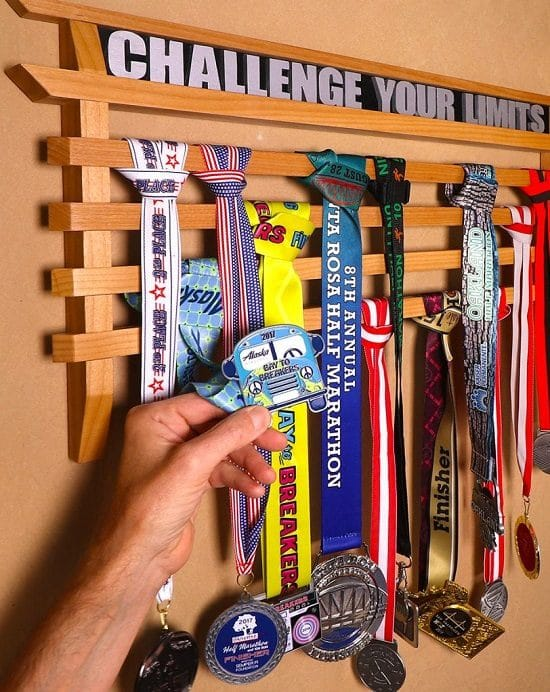 Running Medal Display Rack DIY