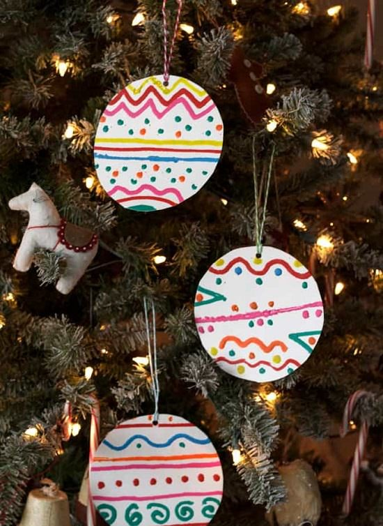 Paper Plate Ornaments