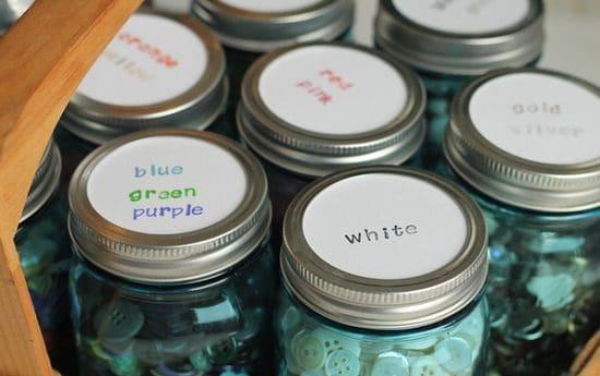 Button Storage Jars