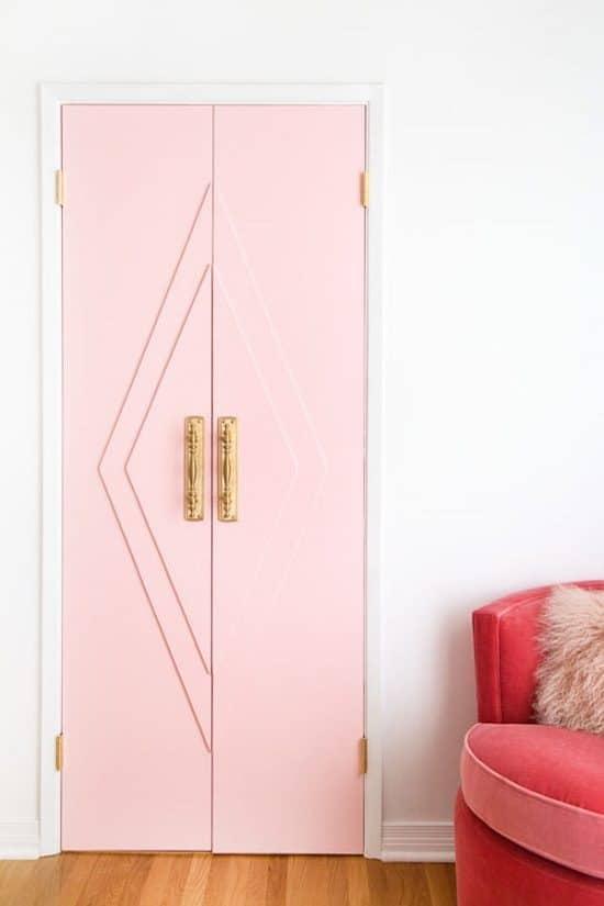 Pink French Door