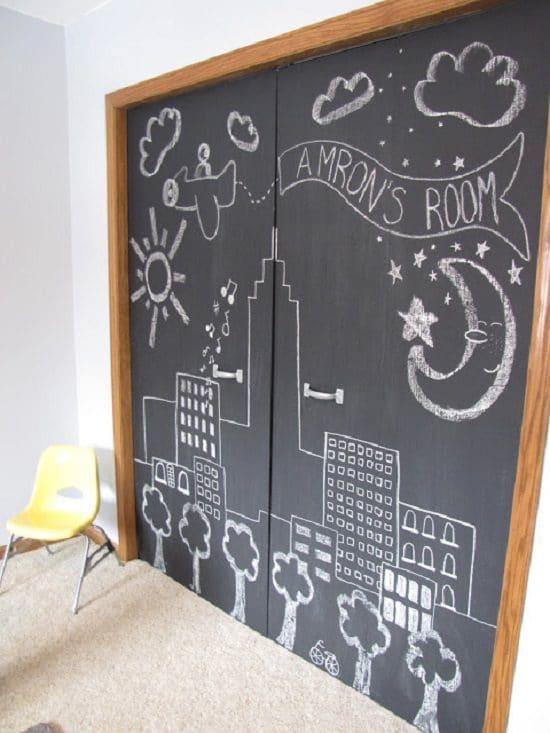 DIY Chalkboard Doors