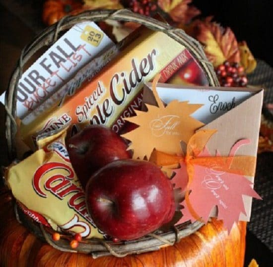 Easy Fall Gift Basket