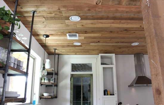 Reclaimed Wood Ceiling Modification