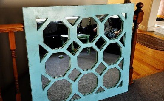 DIY Unique Turquoise Mirror