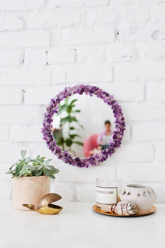 Crystal Stone Mirror