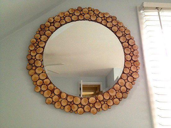Wood Slices Mirror