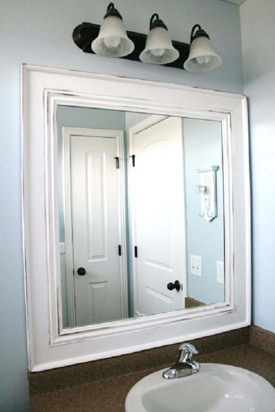 Classic Mirror in a Distressed Frame